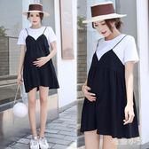 中大尺碼  孕婦洋裝夏裝寬松假兩件 ys4437『毛菇小象』