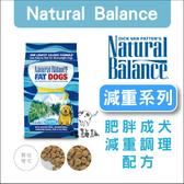 Natural Balance〔NB肥胖成犬減重調理配方,28磅〕