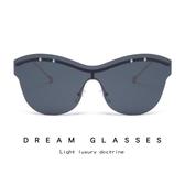 時尚海洋片太陽鏡 個性連體片眼鏡 太陽眼鏡【多多鞋包店】y152