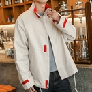 簡約男士外套 潮流外套潮牌外衣 男外套工裝百搭韓版外套 秋季休閒日系夾克外套 時尚男生外套