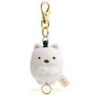 asdfkitty*日本san-x角落生物白熊造型絨毛玩偶伸縮鑰匙圈/吊飾/掛飾-日本正版商品
