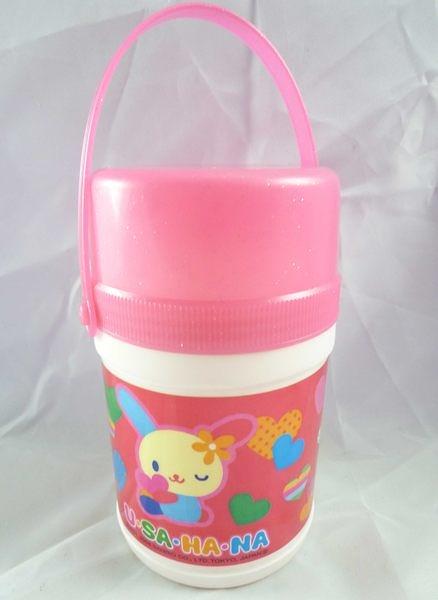 【震撼精品百貨】U-Sa-Ha-Na 花小兔 ~桃色塑膠手提小水壺『心』