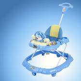 學步車 嬰兒學步車6/7-18個月寶寶兒童學步車防側翻可折疊起步學車帶剎車 巴黎春天