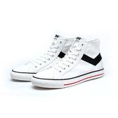 PONY SHOOTER 女款基本白色高筒帆布鞋-NO.91W1SH01RW