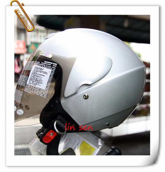 ZEUS 瑞獅安全帽,半罩安全帽,3/4帽,飛行帽,202D,素色/銀