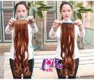 ★依芝鎂★W103髮片捲髮增加髮量小片自...