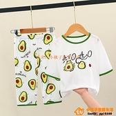 男童睡衣兒童空調服組合裝小孩寶寶夏季家居服春長袖薄款夏天純棉【小桃子】