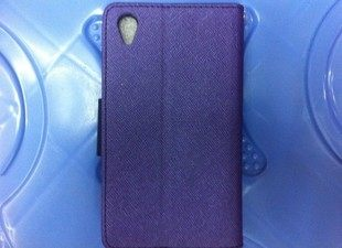 King*Shop~ 韓國原裝Mercury 新款撞色皮套SONY索尼L39h手机殼xperia z1保護套C6903皮套C6902