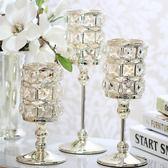 燭台 水晶燭台後現代創意客廳歐式家居裝飾品4364餐桌創意美式擺件禮品 igo 非凡小鋪