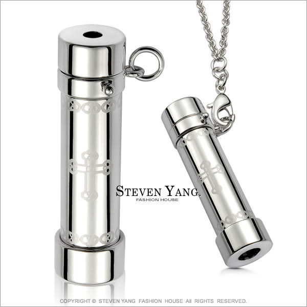 項鍊 正白K飾 送刻字「鑽石情人」萬花筒項鍊 十字架 採施華洛世奇水晶 獨家