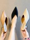 熱賣穆勒鞋 網紅包頭半拖鞋女2021新款時尚外穿粗跟涼拖鞋尖頭懶人中跟穆勒鞋 coco