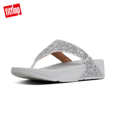 SS20早春【FitFlop】LULU GLITTER TOE-THONGS 經典亮片夾腳涼鞋-女(銀色)