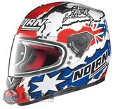 [中壢安信]義大利 Nolan N64 #43 C. STONER 金屬白 輕量 透氣 全罩 安全帽