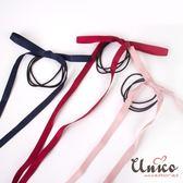UNICO 甜心少女可調式蝴蝶結緞帶長飄帶髮繩/髮圈