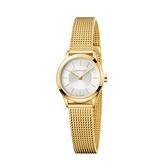 Calvin Klein CK 優雅亮金時尚米蘭帶腕錶(K3M23526)24mm