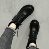 馬丁靴女潮ins英倫風2020新款秋冬季百搭加絨黑色網紅帥氣小短靴ifashion