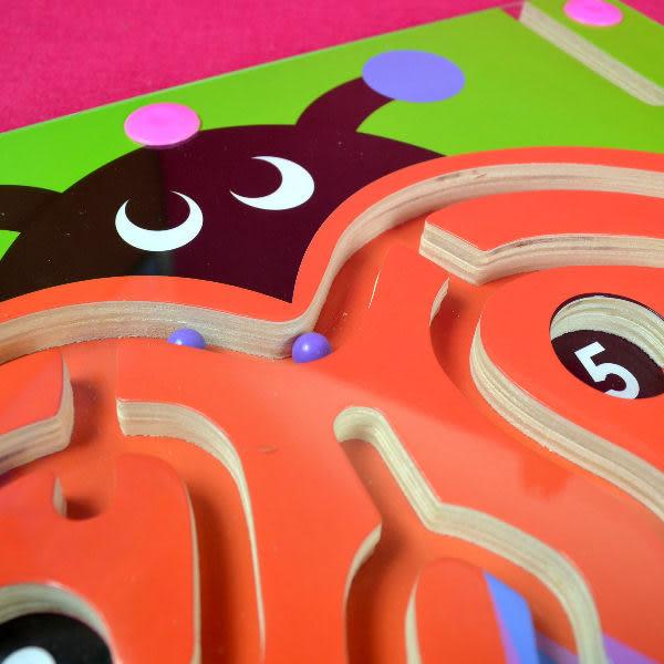 佳廷模型 木製益智磁性運筆迷宮玩具 手眼協調教具 金龜子造型2 經濟部標準檢驗局檢驗合格