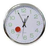 【GF445】12寸圓形夜光靜音掛鐘 石英鐘 螢光簡約時鐘 客廳時鐘 超靜音時鐘 EZGO商城