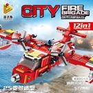 早教玩具 積木消防救援飛機兼容樂高 男孩益智拼插積木玩具禮物 兒童玩具兒童禮物 益智玩具