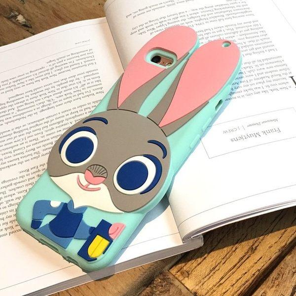 iPhone手機殼 送掛繩 動物方程式 茱蒂兔 矽膠軟殼 蘋果iPhone7/iPhone6/iPhone5手機殼