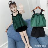 女童套裝新款韓版兒童女孩夏季短褲洋氣時髦兩件套潮 JY242【大尺碼女王】