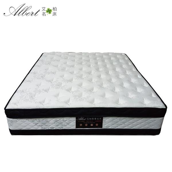 【綠家居】捷克 6尺雙人加大三件式床台組合(床片+床底+艾柏 正四線抗菌涼感獨立筒床墊+三色)