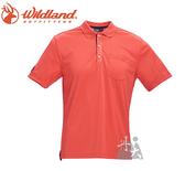 丹大戶外【Wildand】荒野 男椰碳紗YOKE領抗菌上衣 0A71652-84 橘色