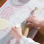 ✭慢思行✭【P255】帶刻度矽膠揉麵墊 擀麵墊 和麵 矽膠墊 烘焙 工具 麵包 案板 麵食