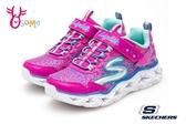 SKECHERS GALAXY LIGHTS 女童運動鞋 LED燈 慢跑鞋Q8249#粉紅◆OSOME奧森鞋業