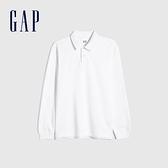 Gap男裝 簡約風碳素軟磨POLO衫 756433-白色