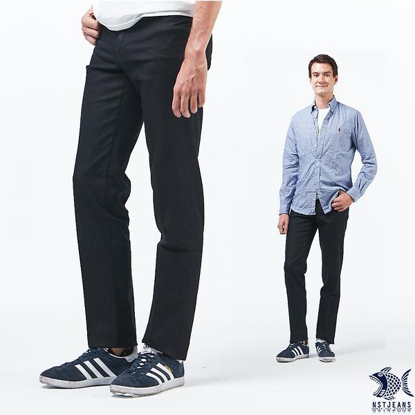 【NST Jeans】暗黑華爾滋 洗鍊黑 商務休閒男褲(中腰) 390(5711) 台製 紳士 大尺碼 四季款