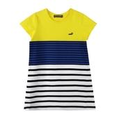 『小鱷魚童裝』撞色條紋洋裝(02號~08號)533381