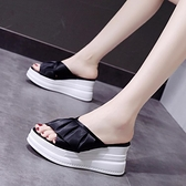 坡跟拖鞋 網紅拖鞋女外穿厚底ins潮鞋時尚百搭年夏天超火坡跟涼拖 芊墨 新品