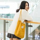 帆布包 女單肩帆布袋 手提袋 學生韓版原宿ulzzang慵懶風ins手提購物袋SS型 降價兩天