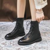 馬丁靴女年新款秋鞋網紅顯腳小英倫風百搭瘦瘦靴子冬加絨短靴 雙十一全館免運
