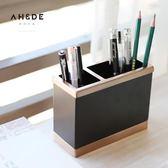 古銅筆筒筆筒復古辦公室筆筒仿古歐式筆桶筆筒簡約創意筆筒 店家有好貨