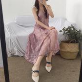 618好康鉅惠2018新款韓風迷人仙女蕾絲吊帶連身裙