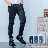 出清不退換 超彈性牛仔褲【T1625】OBIYUAN 素面褲頭鬆緊單寧褲共4色