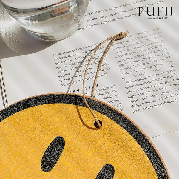 限量現貨◆PUFII-杯墊 笑臉木質杯墊(兩入一組)-0625 現+預 夏【CP20564】