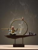 香爐 泥無界悟空創意倒流香爐陶瓷玄關招財客廳禪意木家居大圣裝飾擺件【免運】