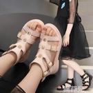 女童涼鞋 女童時尚涼鞋夏新款兒童高幫羅馬鞋舒適軟底公主鞋學生休閒鞋 韓菲兒