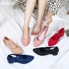 果凍涼鞋 韓版果凍涼鞋女平底淺口塑膠套鞋...