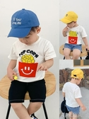 男童T恤2020夏季新款薯條印花寶寶短袖上衣嬰兒打底衫兒童衣服潮