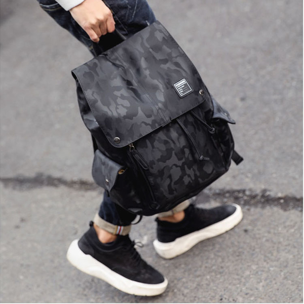 【5折超值價】經典潮流美式街頭迷彩風格後背包