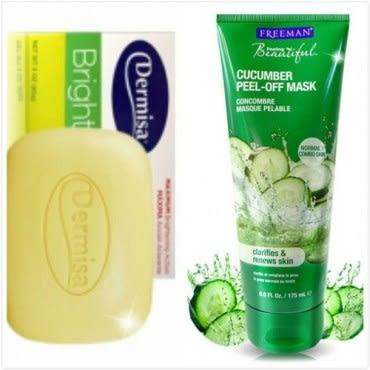 Dermisa 淡斑嫩白皂(85g)*2+Freeman撕除式小黃瓜淨白面膜(