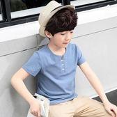 男童裝 童裝男童短袖T恤夏裝2018新款兒童半袖體恤韓版中大童棉質上衣潮 提前降價免運直出八折