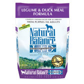 【寵物王國】Natural Balance-NB低敏無穀鷹嘴豆鴨肉全犬配方24磅 ●廠效期2019.2.16