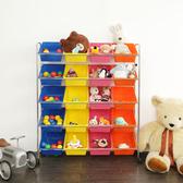 附輪繽紛20 格活動玩具車玩具箱活動櫃收納箱收納櫃儲物櫃邊櫃BN118 澄境