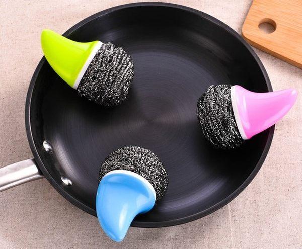 [協貿國際]  創意鯊魚手柄鋼絲球清潔球 (4個價)