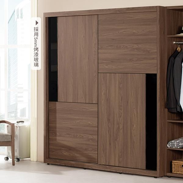 【森可家居】約克5尺拉門衣櫥(不含開放置物櫃 ) 8CM566-2 衣櫃 木紋質感 工業風